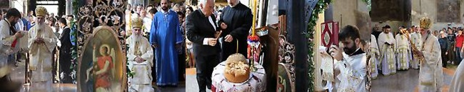 Патријарх српски служио на Духове у цркви Свете Тројице у Земуну
