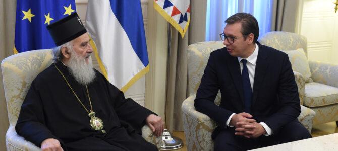 Састанак Патријарха српског Иринеја и председника Вучића