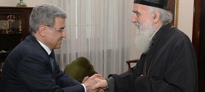 Патријарх српски примио сиријског дипломату