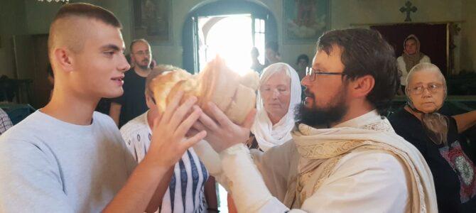 Прослава Велике Госпоjине у храму Преображења Господњег у Беочину.
