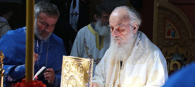Беседа Патријарха Иринеја на празник Светог великомученика Пантелејмона
