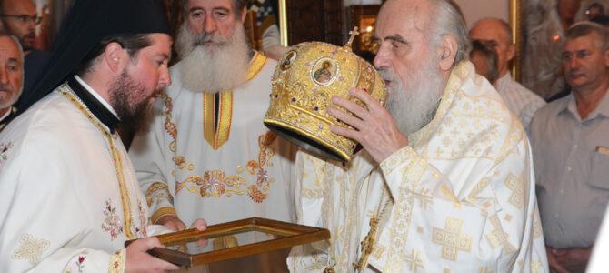 Патријарх српски г. Иринеј богослужио у манастиру у Сланцима