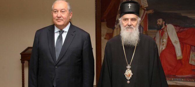 Његова Светост Патријарх српски г. Иринеј примио Председника Јерменије