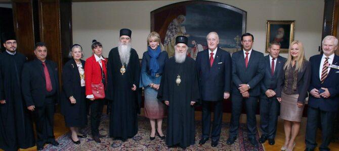 Патријарх српски г. Иринеј примио г. Брајана и гђу Милицу Малруни
