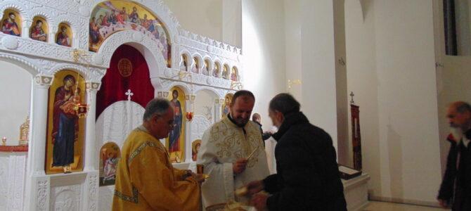 Навечерје славе храма Светог апостола и јеванђелисте Матеја у Сурчину
