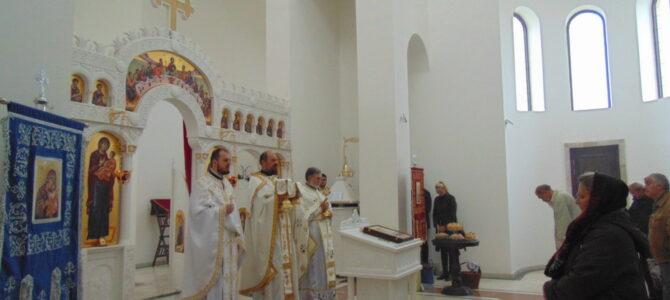 Литургијски прослављена слава Храма Светог Апостола и Јеванђелисте Матеја у Сурчину