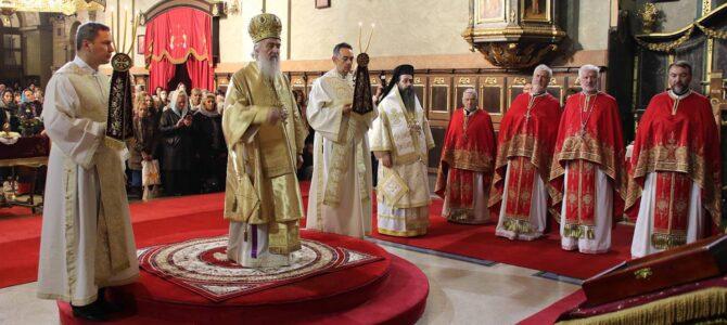 Патријарх српски г. Иринеј богослужиo поводом славе Саборне цркве