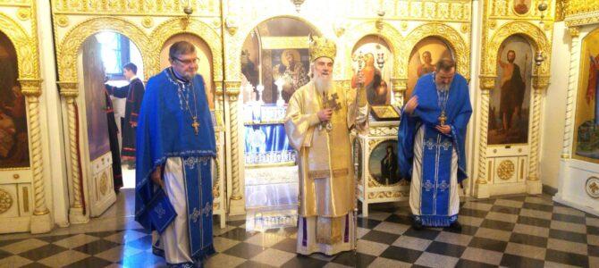Патријарх српски г. Иринеј богослужио у цркви Ружица на Калемегдану