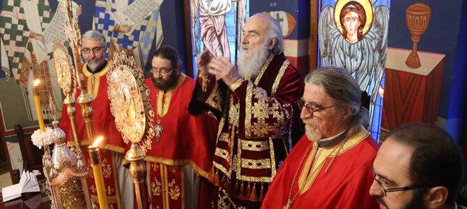 Патријарх српски г. Иринеј богослужио на Материце у храму Светог Василија Острошког на Бежанијској Коси
