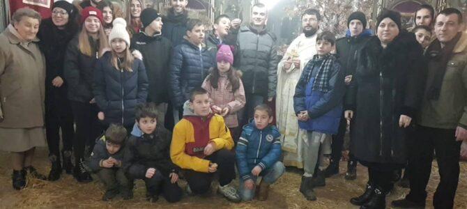 Божић у храму Преображења Господњег у Беочину
