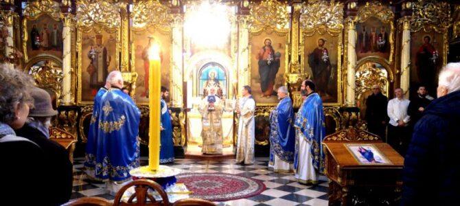 Патријарх српски г. Иринеј богослужио у храму Рођења Пресвете Богородице у Земуну