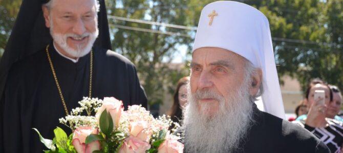 Патријарх српски г. Иринеј свечано дочекан у цркви Св. Саве у Сент Питерсбургу на Флориди