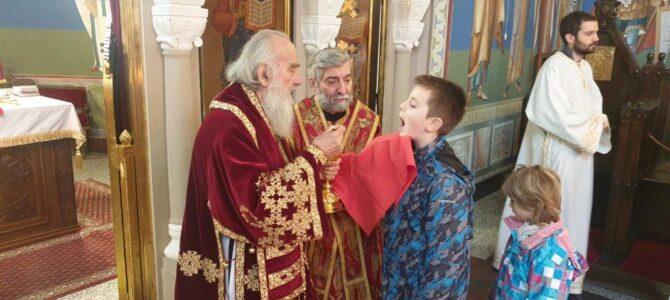 Патријарх српски г. Иринеј богослужио на Сењаку