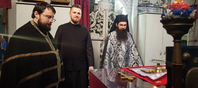 Литургија Пређеосвећених дарова у храму Преображења Господњег у Беочин селу