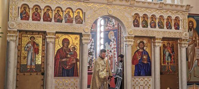 Литургија Пређеосвећених дарова у храму Светог Василија Острошког у Беочину