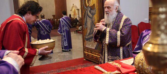 Литургија пређеосвећених дарова у храму Светог Марка