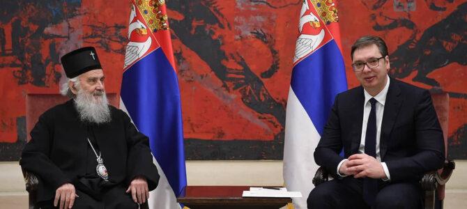 Председник Вучић честитао славу патријарху Иринеју