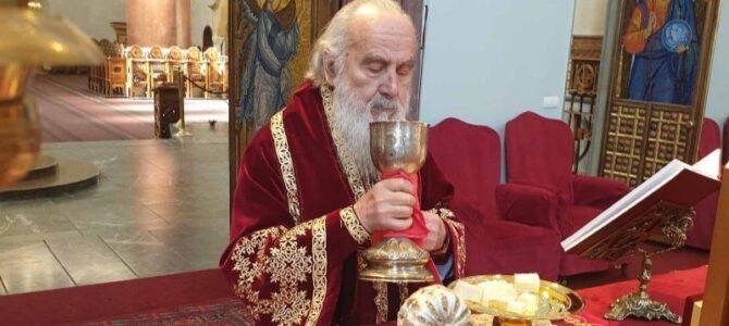 Патријарх српски г. Иринеј на Цвети богослужио у Марковој цркви