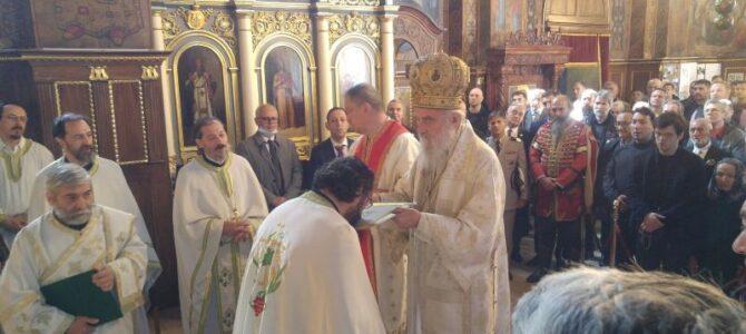 Патријарх српски г. Иринеј богослужи у Вазнесењској цркви