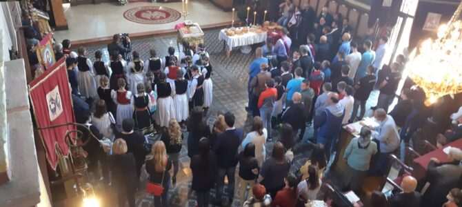 Прослава славе Храмa Светог оца Николаја у Шиду