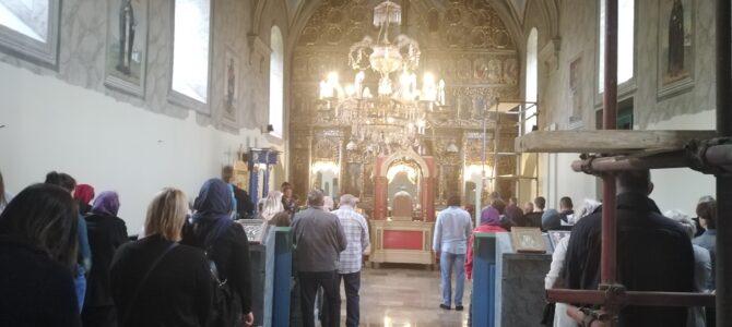 Света Литургија у храму Вазнесења Господњег у Руми