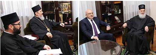 Патријарх српски г. Иринеј примио министра културе и информисања