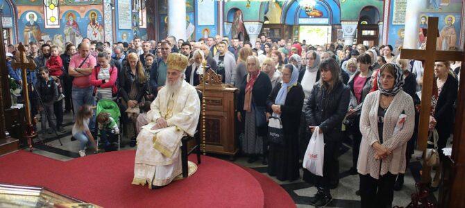 Патријарх српски г. Иринеј богослужио у Вазнесењском храму у Жаркову