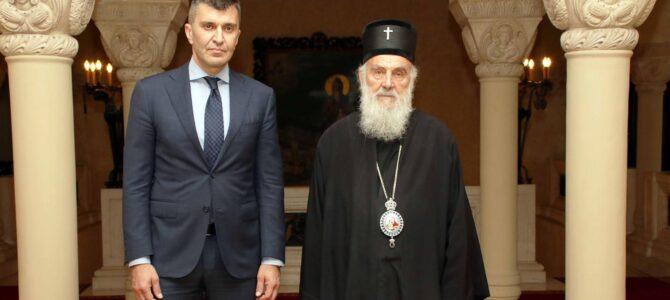 Министар Зоран Ђорђевић код Патријарха српског  г. Иринеја