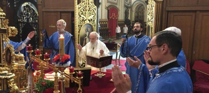 Патријарх српски г. Иринеј богослужио у Саборној цркви