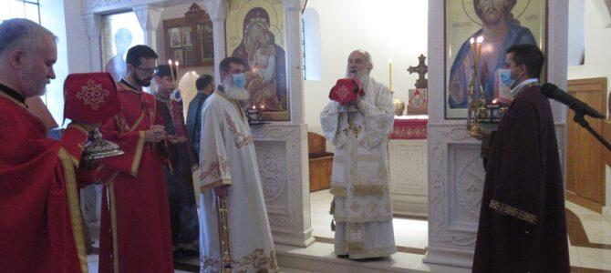 Патријарх српски г. Иринеј богослужио у храму Светог Трифуна