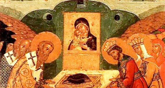 Полагање ризе Пресвете Богородице