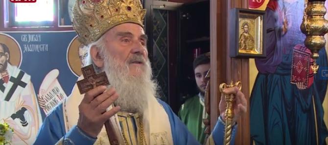 Патријарх српски г. Иринеј богослужио у храму Светог Атанасија Великог