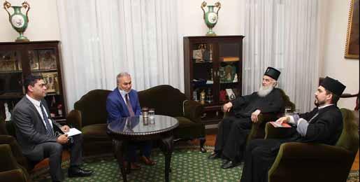 Патријарх српски г. Иринеј примио Амбасадора Државе Палестине