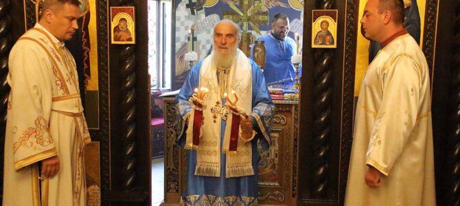 Патријарх српски г. Иринеј богослужио на Карабурми