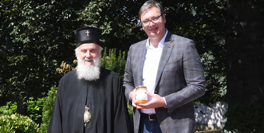 Патријарх српски г. Иринеј разговарао са председником Вучићем