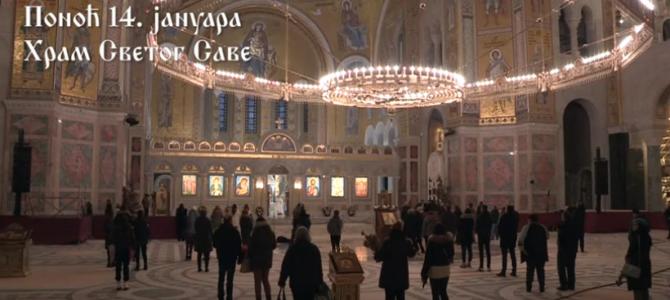 Најава: Mолебан у храму Светог Саве на Врачару