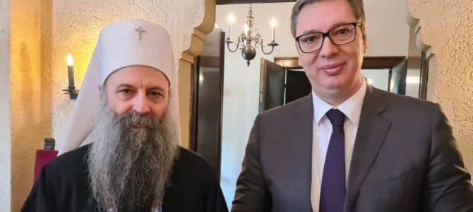 Сусрет патријарха Порфирија и председника Вучића