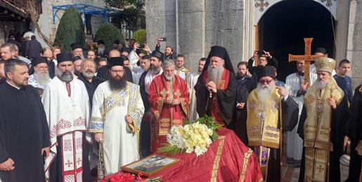 Погребна поворка од Требиња до Тврдоша и укоп упокојеног епископа Атанасија