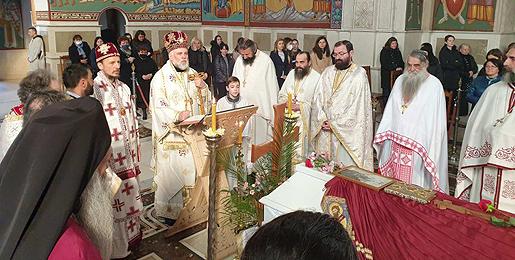 У загрљају Цркве: Божанствена Литургија уз одар епископа Атанасија