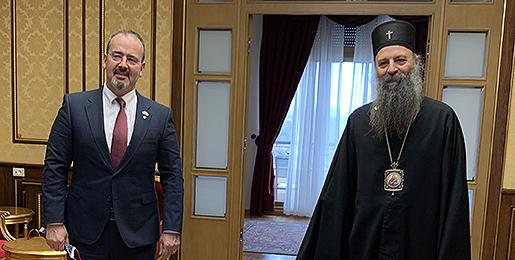 Патријарх српски примио Амбасадора САД-а