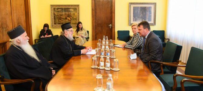 Eпископа сремског г. Василија примио председник Мировић