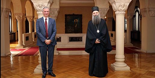 Патријарх српски примио Амбасадора Краљевине Белгије
