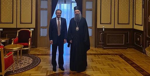 Патријарх српски примио Амбасадора Кипра