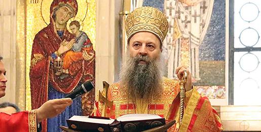 Патријарх српски Порфирије богослужио у цркви Светог Марка