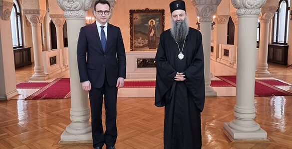 Патријарх Порфирије примио Директора Канцеларије за Косово и Метохију