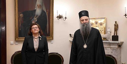 Патријарх српски примио Амбасадорку Румуније