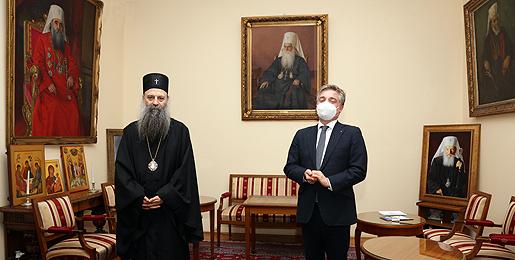 Патријарх српски примио Шефа Мисије Савета Европе