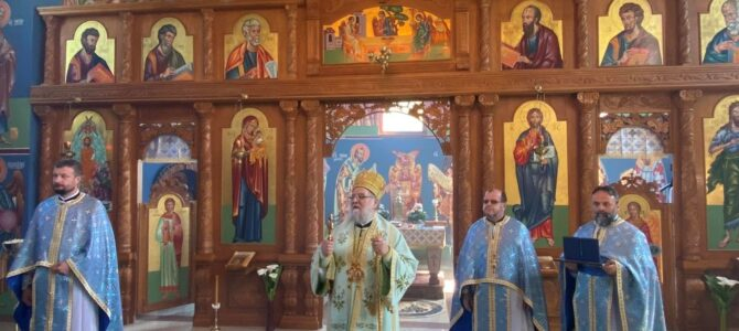 Епископ сремски г. Василије освештао фрескопис у храму Успенија Пресвете Богородице у Шиду