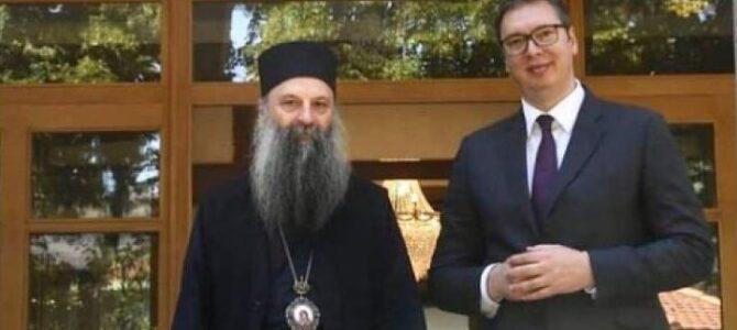 Његова Светост Патријарх српски г. Порфирије данас разговарао са председником Републике Србије