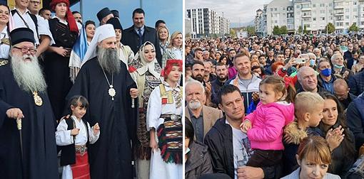 Патријарх Порфирије свечано дочекан у Источном Сарајеву